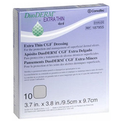 Convatec Duoderm Cgf Extra Thin Dressing 4 Inches X 4 Inches 10 each by Convatec
