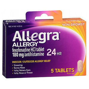 Allegra Adult 24 Hour Allergy Relief 5 tabs by Act (2587572600917)