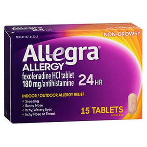 Allegra Adult 24 Hour Allergy Relief 15 tabs by Act (2587572633685)