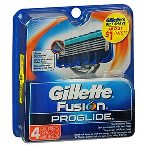 Gillette Fusion Proglide Manual Cartridge 4 each by Gillette