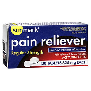 Sunmark Pain Reliever 100 tabs by Sunmark (2587574927445)