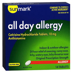All Day Allergy 14 tabs by Sunmark (2587575648341)