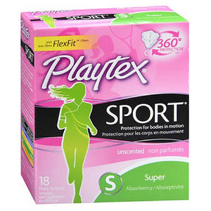 Playtex Sport Tampons Super Unscented 18 each by Playtex (2588078604373)