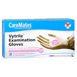Caremates Vytrile-Pf Examination Gloves Large 100 each by Caremates