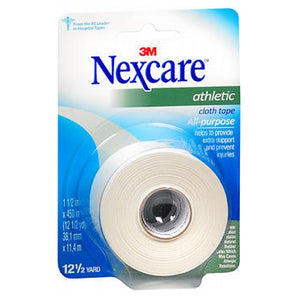 "Nexcare Athletic Cloth Tape White 1.5"" X 12.5 Yards each by Nexcare"
