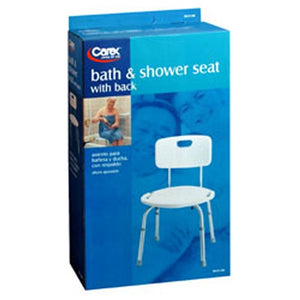 Carex Adjustable Bath And Shower Seat With Back 1 each by Carex (2587583545429)