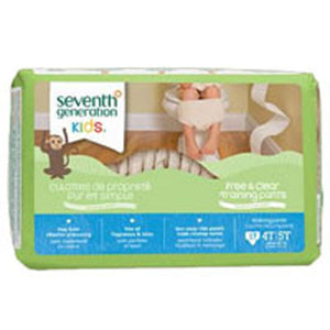 Free and Clear Training Pants 4T-5T , 17 CT(case of 4) by Seventh Generation