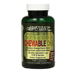 Boys N'Girls Chewable DHA 90 Caps by Amino Acid & Botanical Supply (2588115238997)