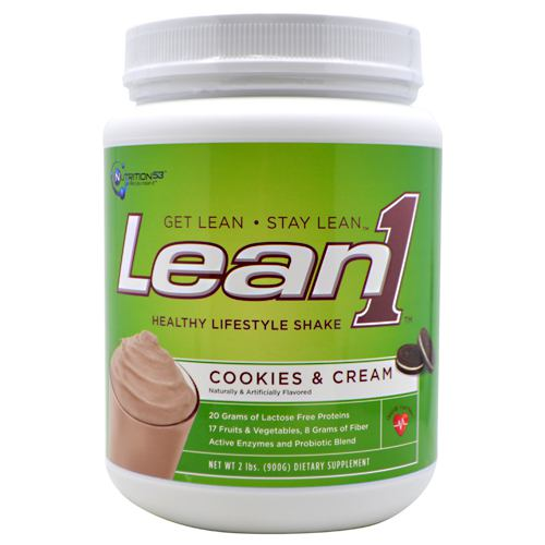 Lean1 Performance Shake Cookies & Cream 2 lbs by NUTRITION 53