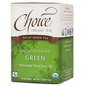 Organic Green Tea Decaffeinated 16 bags(case of 6) by Choice Organic Teas (2588144336981)