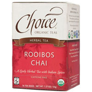 Organic Herbal Tea Rooibos Chai 16 bags(case of 6) by Choice Organic Teas (2588144435285)