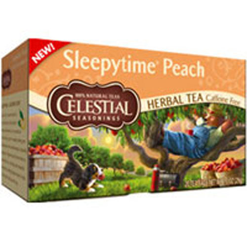 Herbal Tea Sleepytime Peach 20 bags(case of 6) by Celestial Seasonings