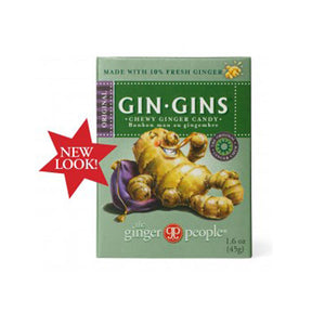 Gin Gins Chewy Ginger Candy Travel Pack 1.6 oz(case of 24) by GO Energy for the Skin