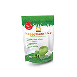Organic Veggi and Fruit Snack Apple-Spinch-Pea and Kiwi 1 oz(case of 8) by Happy Baby (2588145352789)