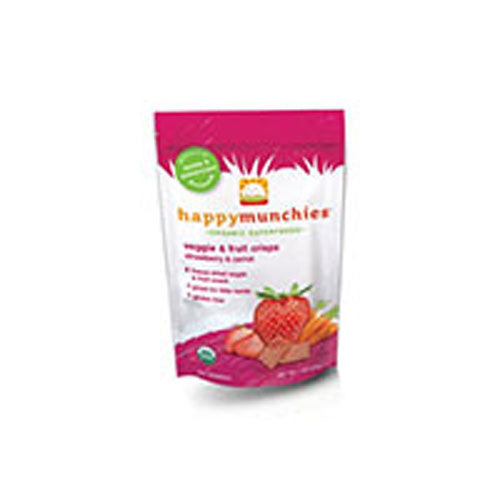 Organic Veggi and Fruit Snack Strawberry-Raspberry and Carrot 1 oz(case of 8) by Happy Baby