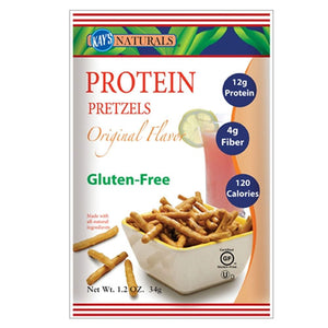 Protein Pretzels Orginal Flavor 1.2 oz(case of 6) by Kay's Naturals