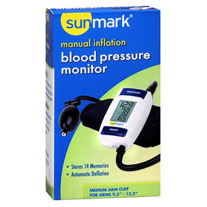 Sunmark Manual Inflation Blood Pressure Monitor 1 Each by Sunmark