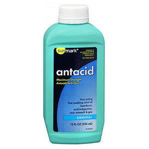 Sunmark Antacid Liquid Maximum Strength Original 12 oz by Sunmark (2587655635029)
