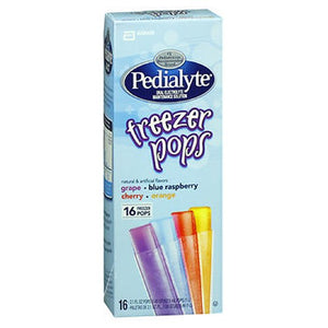 Pedialyte Freezer Pops 16 Pack Assorted Flavors 2.1 Oz by Pedialyte