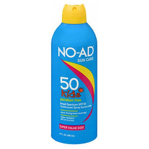 NO-AD Kids Continuous Spray Sunscreen SPF 50 10 oz by No-Ad