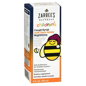 Childrens Nighttime Cough Syrup Grape 4 oz by Zarbees (2587657306197)