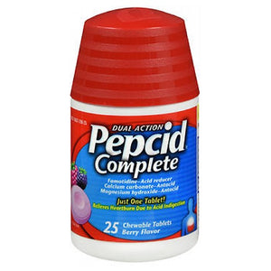 Pepcid Complete Chewable Berry Flavor 25 Tabs by Pepcid (2590102945877)