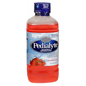 Pedialyte Oral Electrolyte Maintenance Solution Strawberry Flavor 33.8 oz by Pedialyte