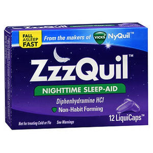 ZzzQuil Nighttime Sleep-Aid LiquiCaps 12 Caps by Procter & Gamble (2590104846421)