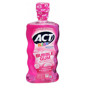 ACT Kids Anticavity Fluoride Rinse Bubblegum Blowout 16.9 Oz by Act