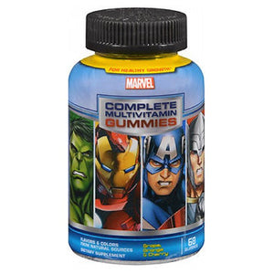 Marvel Avengers Complete Multivitamin Gummies  Grape, Orange and Cherry 60 Each by Marvel