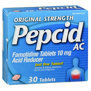 Pepcid Acid Reducer Tablets Original Strength 30 Tabs by Pepcid