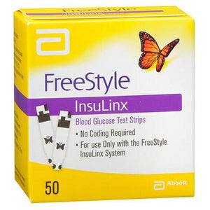 FreeStyle InsuLinx Blood Glucose Test Strips 50 Each by Freestyle (2590111236181)