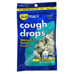 Sunmark Cough Drops Menthol Flavor 30 Each by Sunmark