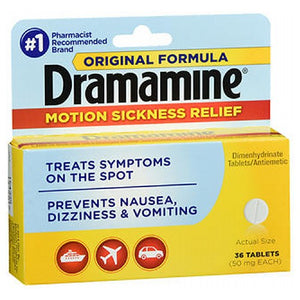 Dramamine Tablets Original Formula 36 Tabs by Med Tech Products (2590111891541)