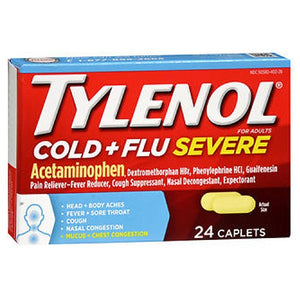 Tylenol Cold Flu Severe 24 Caplets by Johnson & Johnson (2590112841813)