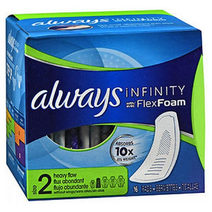 Always Infinity Pads without Wings Heavy Flow 16 Each by Always (2590113071189)