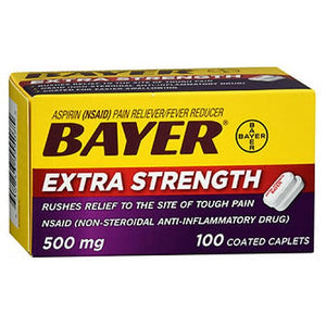 Bayer Aspirin Pain Reliever / Fever Reducer 100 tabs by Bayer (2588202106965)
