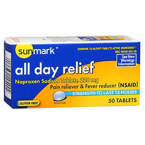 All Day Relief 50 Tabs by Sunmark (2590128275541)
