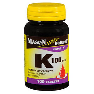 Vitamin K 100 Tabs by Mason