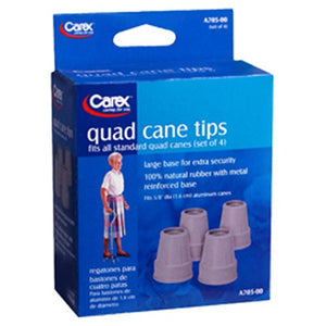 Quad Cane Tips 4 Each by Bed Buddy