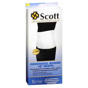 Scott Abdominal Binder 12 Inch Width Large 1 Each by Scott Specialties