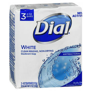 Dial Antibacterial Deodorant Soap White 3 X 4 Oz bars by Dial (2590157340757)
