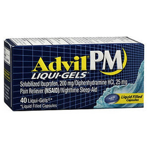 Advil PM Pain Reliever 40 Liqi Gels by Advil (2590158291029)