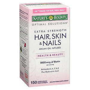 Nature's Bounty Hair Skin and Nails Coated Caplets 150 Caplets by Nature's Bounty