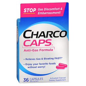 CharcoCaps Activated Charcoal Capsules 36 Caps by Emerson Healthcare Llc