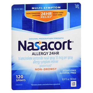 Nasacort Allergy 24 Hr Multi-Symptom Nasal Allergy Spray 0.57 Oz by Act