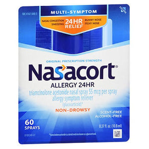 Nasacort Allergy 24 Hr Multi-Symptom Nasal Allergy Spray 0.37 Oz by Act