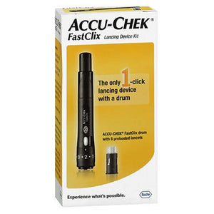 Accu-Chek Fastclix Lancing Device Kit 1 Each by Accu-Chek (2590161010773)