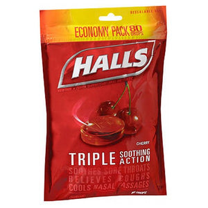 Halls Mentho-Lyptus Drops Cherry 80 Each by Halls