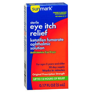 Sunmark Eye Itch Relief Antihistamine Drops 0.17 Oz by Thera Tears